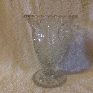 "Other - 8"" CRYSTAL GLASS VASE CIRCA 1909"